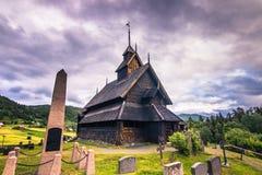 Juli 18, 2015: Eidsborg Stave Church, Norge Royaltyfria Bilder