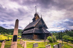 18. Juli 2015: Eidsborg Stave Church, Norwegen Lizenzfreie Stockbilder