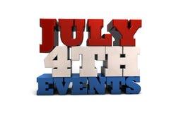 4. Juli Ereignisse Lizenzfreie Stockfotos