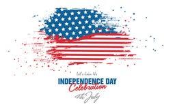 4. Juli Feier mit abstraktem Art USA-Flaggen-Hintergrund Stockfoto