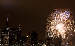 Juli Feuerwerk Stockfotografie
