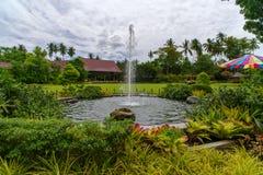 15,2017 juli fontein bij tuin in villaescudero, Laguna, Phil Stock Foto