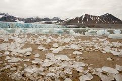 14 juli Gletsjer - Spitsbergen - Svalbard Stock Afbeeldingen