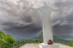 29 juli, het standbeeld van Jesus van 2017 in Monasterio DE Tarlac Stock Fotografie