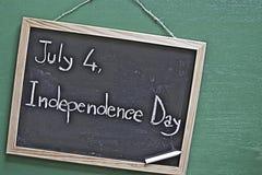 4 Juli, Indipendence dag Arkivfoto