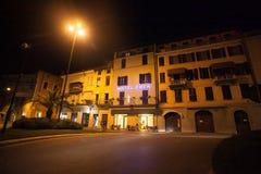 7 juli, 2013 Italië De stad van Salo op de kusten van Lake Lago Di Garda in de zomer, het gebied van Lombardije stock foto's