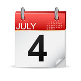 4 juli kalender Stock Fotografie