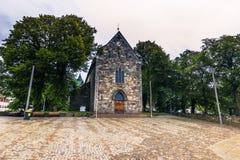 19. Juli 2015: Kathedrale von Stavanger, Norwegen Lizenzfreie Stockfotografie