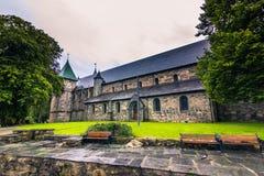 19. Juli 2015: Kathedrale von Stavanger, Norwegen Lizenzfreie Stockfotos