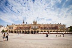 10 Juli 2017, Krakow, Polen - gammalt centrum, Krakow marknad Squa Fotografering för Bildbyråer