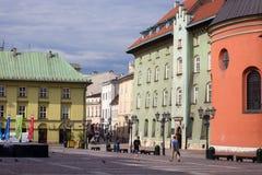 10 Juli 2017-Krakow, Polen - gammalt centrum, Krakow marknad Squa Royaltyfria Bilder