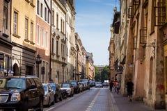 10 Juli 2017-Krakow, Polen - gammalt centrum, Krakow marknad Squa Royaltyfri Foto