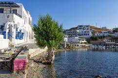 24 Juli 2015 - Kythnos-eiland, Cycladen, Griekenland Stock Fotografie