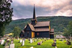 24 juli, 2015: Lom Stave Church, Noorwegen Stock Foto