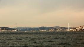 15 Juli martyrbro eller Bosphorus bro Arkivfoto