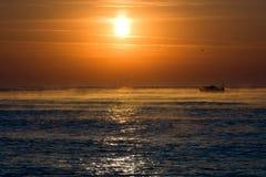juli morgonsoluppgång royaltyfri fotografi