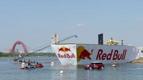 26. JULI 2015 MOSKAU: Roter Stier flugtag Tag stock video footage