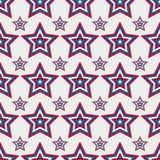 4 juli naadloos patroon met sterren Royalty-vrije Stock Foto's