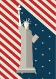 4 juli, Onafhankelijkheidsdag, Standbeeld van Vrijheid de V.S. Stock Afbeelding