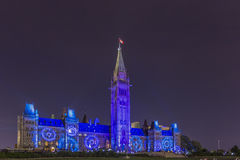 15. Juli 2015 - Ottawa, AUF Kanada- - Kanada-Parlamentsgebäuden Stockfotos