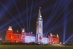 15 juli, 2015 - Ottawa, OP Parlementsgebouwen van Canada - van Canada Stock Foto