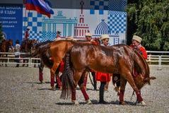 25 juli, 2015 Plechtige presentatie van de Manege van het Kremlin op VDNH in Moskou Stock Foto's