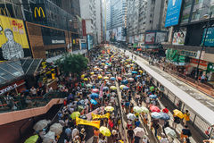 1 Juli-protest in Hong Kong Stock Fotografie