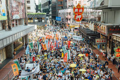 1 Juli-protest in Hong Kong Royalty-vrije Stock Afbeelding