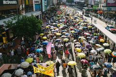 1 Juli-protest in Hong Kong Stock Afbeelding