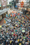 1 Juli-protest in Hong Kong Stock Foto