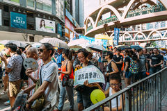 1 Juli-protest in Hong Kong Royalty-vrije Stock Fotografie