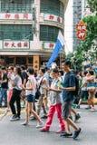 1 Juli protest i Hong Kong Arkivfoton