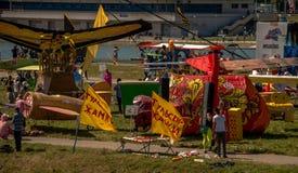 26 juli, 2015 Red Bull Flugtag Alvorens de concurrentie begint Royalty-vrije Stock Afbeeldingen