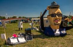 26 juli, 2015 Red Bull Flugtag Alvorens de concurrentie begint Royalty-vrije Stock Afbeelding