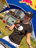 26 juli, 2015 Red Bull Flugtag Alvorens de concurrentie begint Stock Fotografie