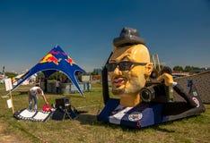 26 juli, 2015 Red Bull Flugtag Alvorens de concurrentie begint Stock Afbeeldingen