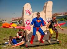 26 juli, 2015 Red Bull Flugtag Alvorens de concurrentie begint Royalty-vrije Stock Fotografie