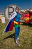 26 juli, 2015 Red Bull Flugtag Alvorens de concurrentie begint Royalty-vrije Stock Foto's