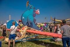 26 juli, 2015 Red Bull Flugtag Alvorens de concurrentie begint Stock Afbeelding