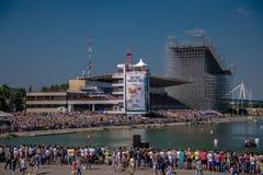 26 juli, 2015 Red Bull Flugtag Alvorens de concurrentie begint Stock Foto's
