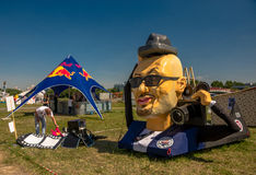 26. Juli 2015 Red Bull Flugtag Vor den Wettbewerbsanfängen Stockbilder