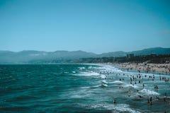 Juli 2018 - Santa Monica, Los Angeles royaltyfri fotografi