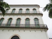 Juli 22, 2018, Santos, São Paulo, Brasilien, Valongo herrgård i den historiska mitten, aktuellt Pele museum royaltyfria bilder