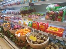 4. Juli 2017 Selayang Selangor Früchte zeigen bei Jaya Grocer Supermarket an stockbild