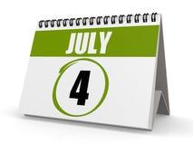Juli 4 självständighetsdagen Royaltyfria Bilder