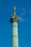Juli-Spalte bei Place de la Bastille Stockbild