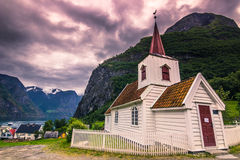23 juli, 2015: Staafkerk van Undredal, Noorwegen Royalty-vrije Stock Fotografie
