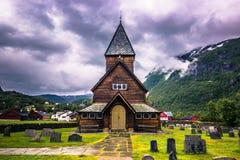 21 juli, 2015: Stave Church van Roldal, Noorwegen Stock Foto's