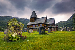 21. Juli 2015: Stave Church von Roldal, Norwegen Stockfoto