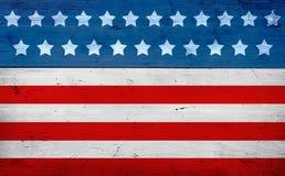 Juli 4th bakgrund, flaggafärger Arkivfoto